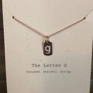 a new day Jewelry - ❤️ A New Day Sterling Silver Letter G Necklace ❤️